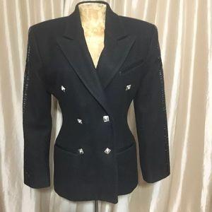 💋Parasuco Vtg Wool Moto Blazer Jacket Sz S
